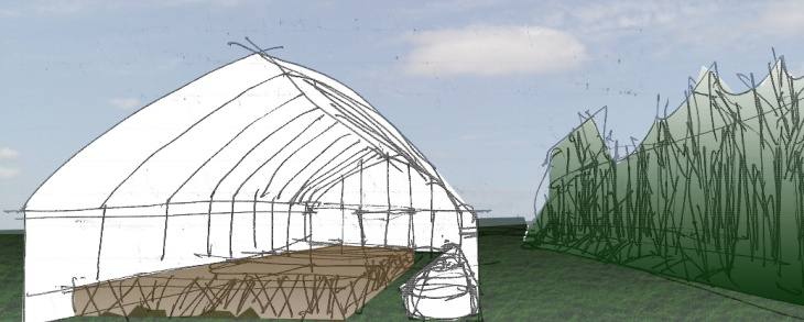 fruiting house sketch with color